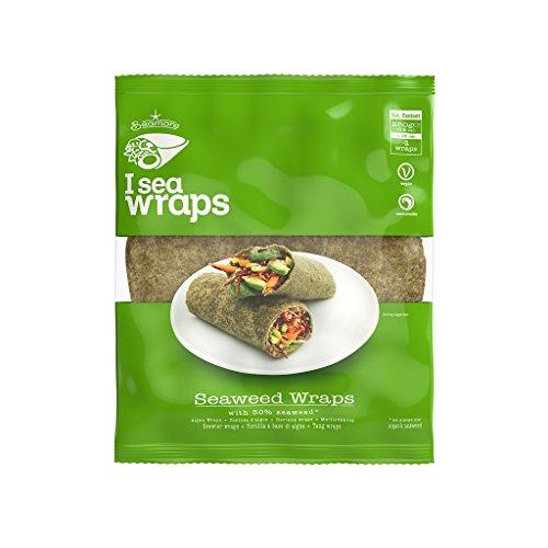 Seamore Algen Wraps I Sea Wraps, 4 Tortillas á 70 g | Bekannt aus Galileo | Low Carb, Vegan, Nachhaltig & ohne Gentechnik 280