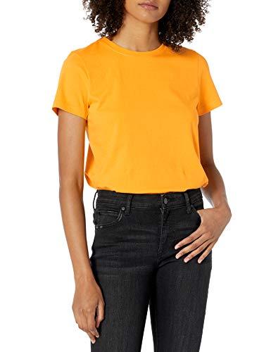 Marca Amazon - Courtney Camiseta pequeña de manga corta de punto con cuello redondo por The Drop
