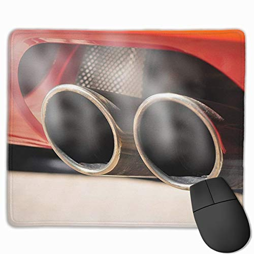 Jujupasg-Mauspad, Rutschfestes, Wasserdichtes Mousepad Auf Gummibasis Für Laptops - Ehrfürchtiges Sport Auspuff Auto