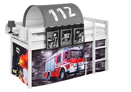 Lilokids Vorhang Feuerwehr - für Hochbett, Spielbett und Etagenbett