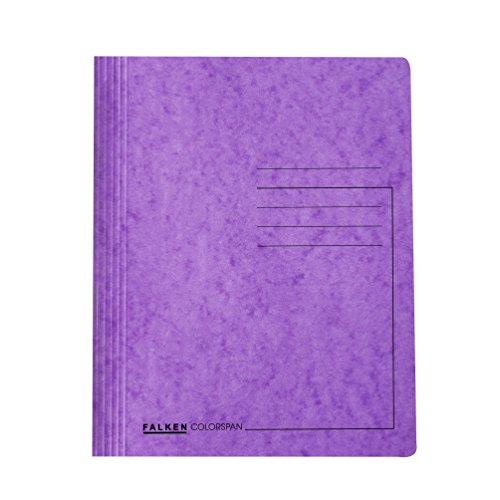 Original Falken Premium Schnellhefter. Made in Germany. Aus extra starkem Colorspan-Karton für DIN A4 kaufmännische Heftung violett Hefter ideal für Büro und Schule