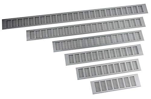 Lüftungsgitter aus Aluminium 80mm Breite in 6 Längen von 30-100cm auswählbar (80cm)