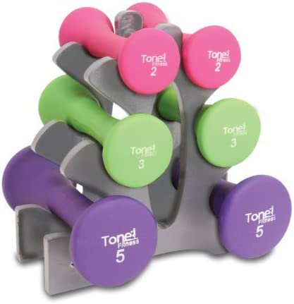 Tone Fitness 20-Pound Brand new Hourglass Weight Set Dumbbell El Paso Mall