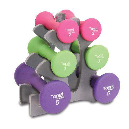 Tone Fitness 20-Pound Hourglass Dumbbell Set | Weight Set