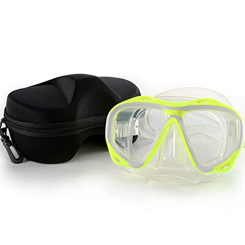 Morgiana Unisex Swimming Mask Goggle with Anti-Fog and UV...