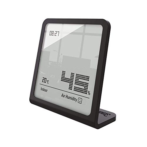 Stadler Form Hygrometer Selina, präzises digitales Messgerät für Luftfeuchtigkeit und Temperatur, schwarz