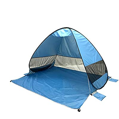 DIGOOD Baby Beach Tent Outdoor Instant Portable Cabana 2-3 Person Anti UV Beach Tent Beach Shelter (Blue)