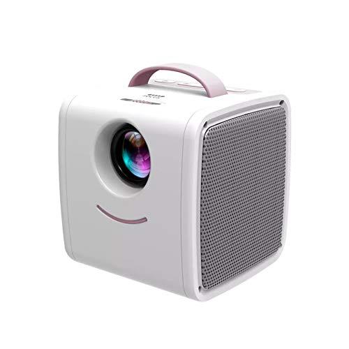 GMZS Projektor Mini, 70 Zoll großer Bildschirm, 700 Lumen Projektor HDMI USB AV, 1080p Full HDSupported,Rosa