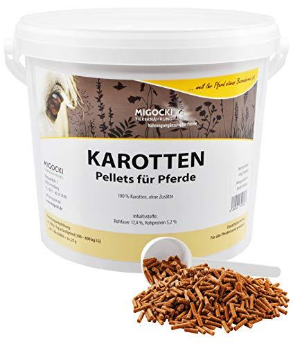 MIGOCKI Karotten – 4 kg – Für Pferde – Reine Kräuter ohne Zusatzstoffe – Pellets