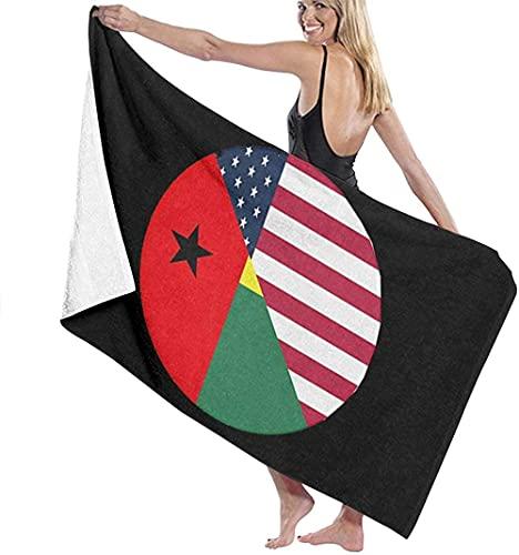 Strandtücher Mikrofaser,Usa Guinea Bissau Flagge Größe Saunatuch Schnelltrocknend Wasseraufnahme Extra Tragbar Sand Proof Ultralight Perfekt Als,Reisetuch,Strandtuch,Badetuch,Picknick Decke