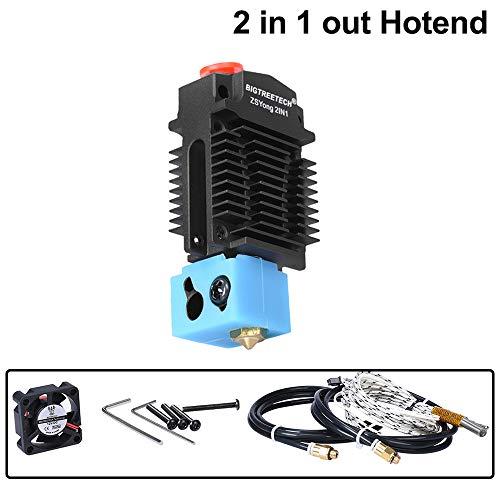 PoPprint ZSYong 24 V 2 in 1 Out nero colore Hotend J testina Extruder stampante 3D parti Bowden Extruder Multi Color per 1,75 mm filamento