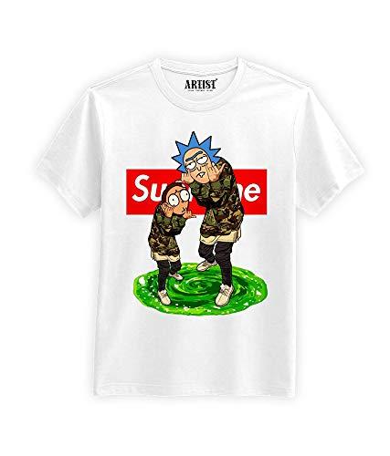 ARTIST T-Shirt Supreme Rick e Morty Unisex (XL)
