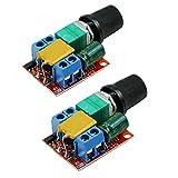 HiLetgo 2pcs DC Motor PWM Speed Controller 3V 6V 12V 24V 35V Speed Control Switch Mini LED Dimmer DC 3V-35V 5A 90W