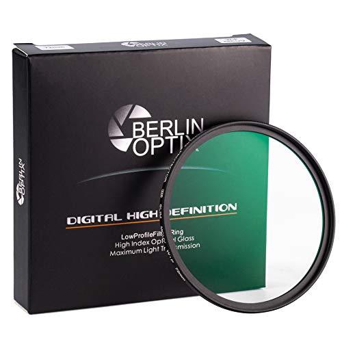 Berlin Optix Premium UV Filter 58mm Schott-Glas 16 Schichten MC super Slim Aluminium ultraviolett Objektiv Schutzfilter