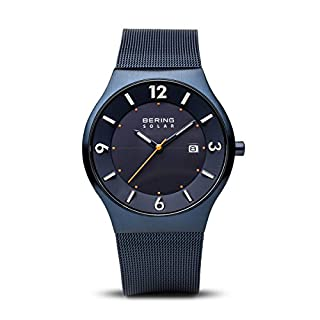 Bering Herren-Armbanduhr Analog Milanaise Blau 14440-393 (B01EYQL96O) | Amazon price tracker / tracking, Amazon price history charts, Amazon price watches, Amazon price drop alerts