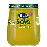 Hero Solo Omogeneizzati Zucchina Piselli Mais Bio, Cartone da 6 Vasetti x 120 Gr