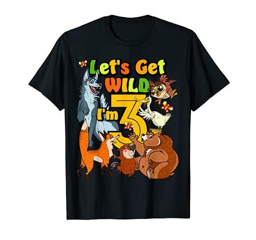 Camiseta de cumpleaños para niños de 3 años de edad del zoológico Forest River Animal 3rd Camiseta