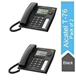 Alcatel T-76 Black Corded Landline Phone with Caller id & Hand Free Function