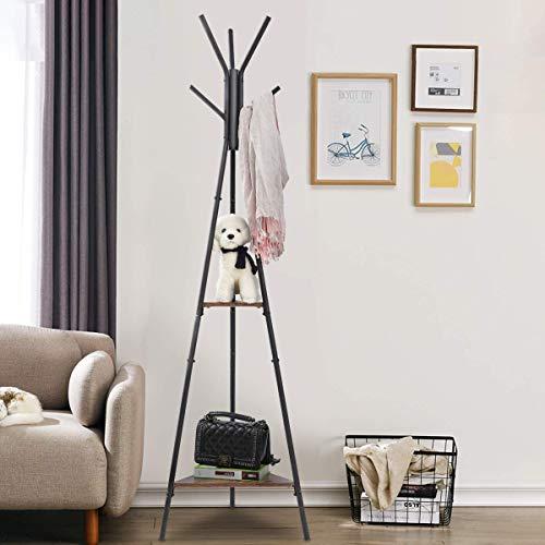 KINGSO Coat Rack Stand, Coat Tree, Hall Tree Free Standing,