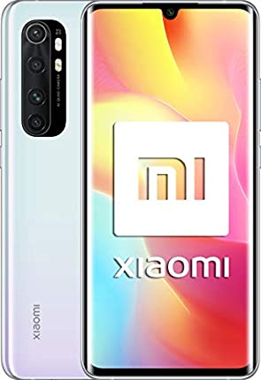 """Xiaomi Mi Note 10 Lite - Smartphone de 6.47"""" (Pantalla curvada AMOLED 3D, 6 GB RAM, 128 GB ROM, cámara Quad de 64 MP) Glacier White"""