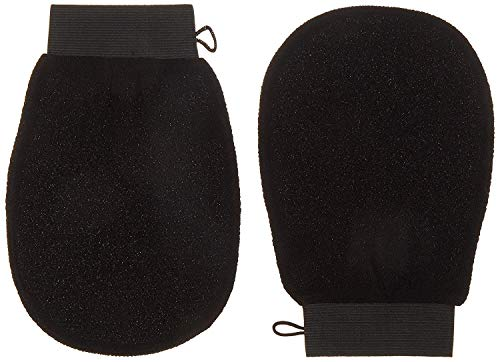 Premium Extreme Exfoliating Mitts (Pair) | Korean Style Exfoliation | Large | Ultra-Thin Compact Design | Keratosis Pilaris | Glove Loofah | Body Microdermabrasion Cloth | Spray Tan Prep & Removal