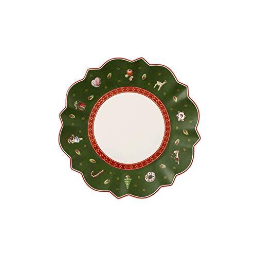 Villeroy & Boch Toy's Delight Piatto da Pane, Rotondo, Porcellana, Verde, 17x17x0.1 cm