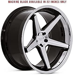 Ferrada Wheels FR3 22x9 5x114 ET35 Machine Black/Chrome Lip C.B 73.1