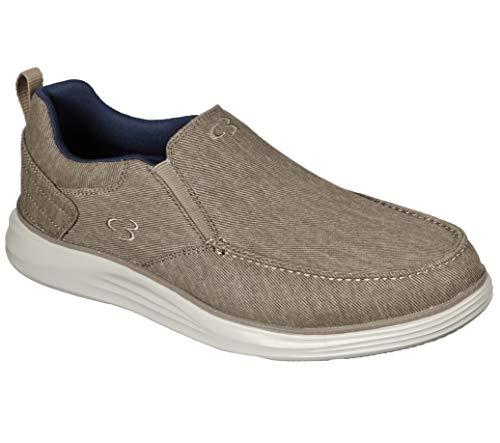 Concept 3 by Skechers Men's Halger Canvas Slip-on Sneaker, Khaki, 9 Medium US