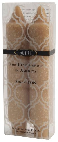 Root Boutique 7-Inch Unscented Timberline Collenette Dinner Candles, Natural, Box of 2