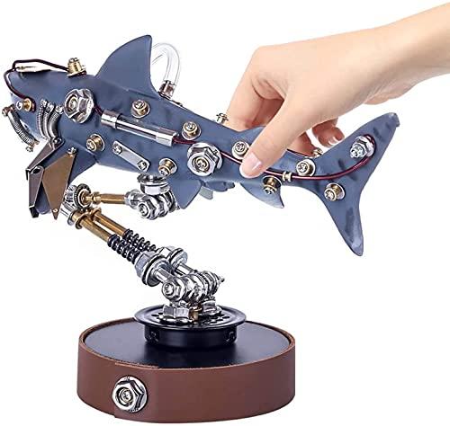 NA ZT 217pcs Bricolaje Metal Mecánico Variante Tiburón Montaje 3D Puzzle Modelo Modelo Adornos Modelos Miniaturas Decoración del Hogar for Regalos