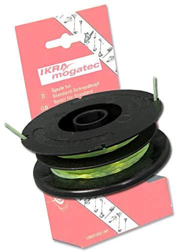 IKRA Ersatzfadenspule für Rasentrimmer Länge 2 x 5 m, Stärke 1,6 mm
