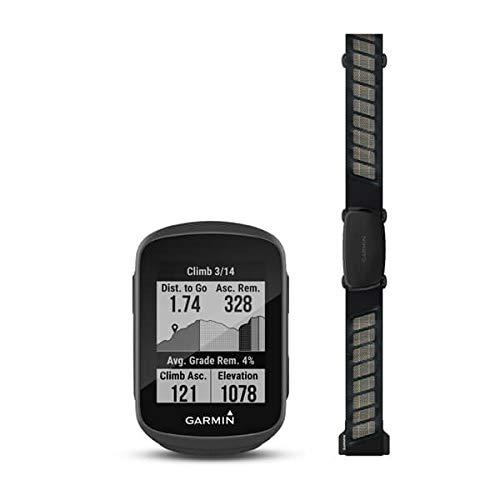 Garmin Edge 130 Plus con HRM-Dual, ciclocomputador GPS compacto con funciones de entrenamiento