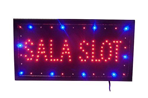 cucuba® Señal luminosa a LED con texto sala Slot 48x 25x 2cm–idea...