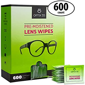 600-Count Optix 55 Eyeglass Cleaner Lens Wipes