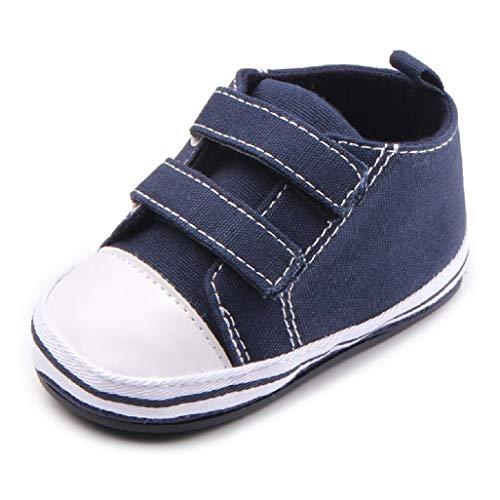 Babyschuhe Auxma Baby Schuhe Sneakers aus Leinwand mit weichen und rutschfesten Sohle Für 3-6 6-12 12-18 Monat (3-6 Monate, SAA)