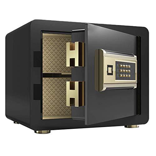 DJPP Caja Fuerte Digital Electrónica de Seguridad para el Hogar con Alarma - Caja Fuerte de Diferentes Colores-35 * 25 * 25Cm,Negro