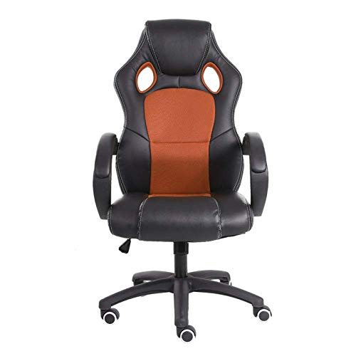 High Back Recliner For Adults, Gaming Swivel Chair Office Meeting Wheelchair Ergonomic Design, Breathable,Orange