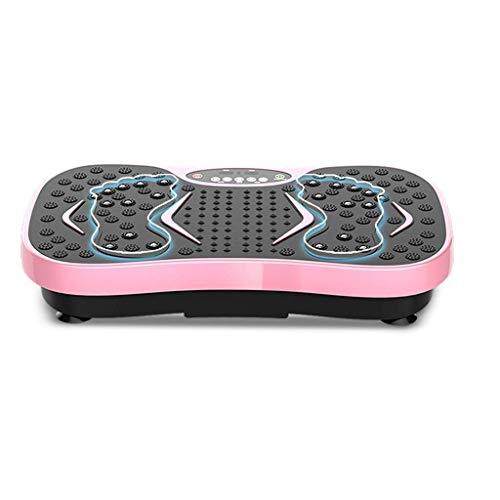 DLJAC Vibratoria Máquina - Vibraciones Entrenador Vibrante Placa Plataforma, Ejercicio Plataforma oscilante con 99 Niveles Velocidades Anti Slip Surface Gym Fitness (Color : Pink)