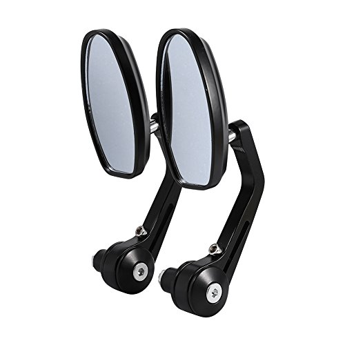 Zerone Fahrradspiegel, 2pcs Flexibel Universal Spiegel Lenkerspiegel 360° Drehung Fahrradspiegel Rückspiegel Set für Fahrrad, Mofa, Rollstuhl, Rollator, Roller Schwarz