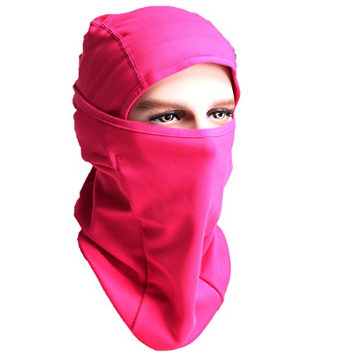 Winter Balaclava - Windproof Ski MasK-Cold Weather Face Mask Motorcycle Neck Warmer Cycling Beanie or Tactical Balaclava Hood - Thermal Comfortable Moisture Wicking-for Men Women Boys Girls (Pink F)