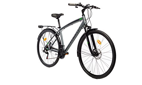 Moma Bikes Bicicleta Trekking / Paseo  TREKKING PRO M 28', Alu, SHIMANO 21V, Susp. Delant. ( Varias Tallas)