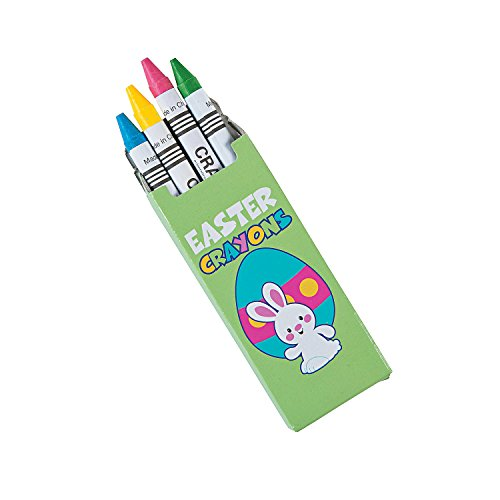 Fun Express - Easter 4pc Pastel Crayons for Easter - Basic Supplies - Drawing - Crayons - Easter - 96 Pieces