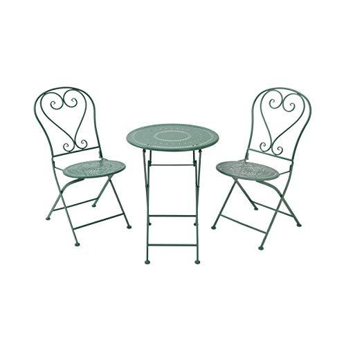 Butlers BOVERY faltbares Set bestehend aus Zwei Stühlen und einem Tisch - romantische Optik