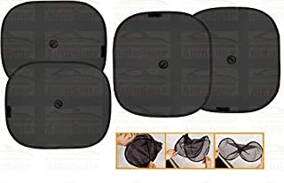 Autosun for Universal Car Window Sun Shade (Set of 4) Black