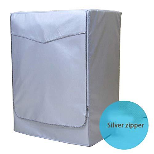 Romerofsia Lavadora automática de Rodillos Protector Solar Lavadora Cubierta Impermeable Secadora Poliéster Plata Cubierta para Lavadora a Prueba de Polvo