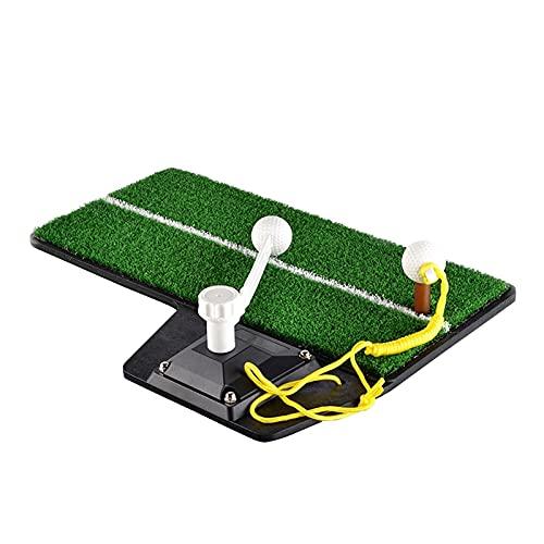 Plegable Mat de la práctica del swing de golf, mini estera de práctica residencial para exteriores al aire libre de golf que conduce a la ayuda de entrenamiento de césped, retorno automático de la bol