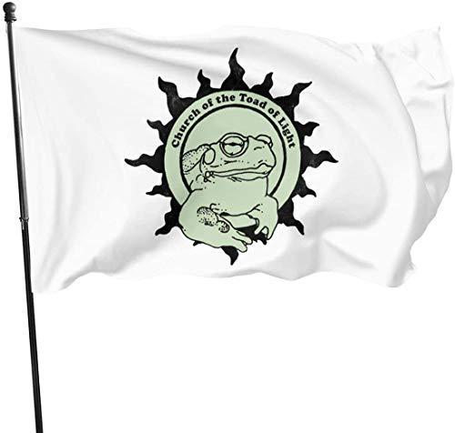 N/A Kirche der Kröte des Lichts Psychedlic Frog Licking Outdoor Garden Decoration Flag 35 (90cm150cm)
