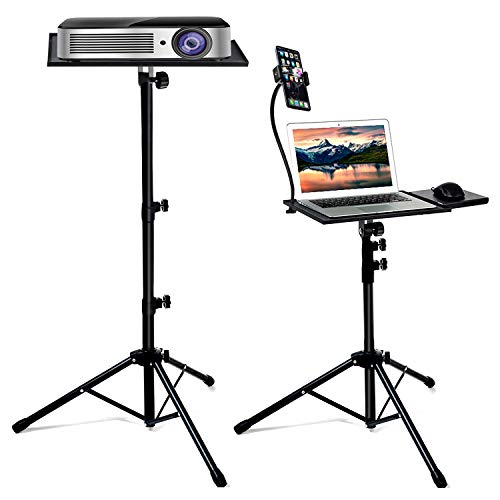 Bulalu Projector Stand, Portable Laptop Tripod Stand, Detachable DJ Device Stand, The Outdoor Computer Desk Stand with Adjusted Height from 23 to 63 Inch, Apply to Stage or Studio