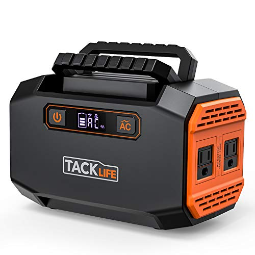 TACKLIFE P16 150W Portable Power Station 167Wh 45000mAh Battery Generator with Dual 110V AC Outlet 3 DC Ports 2 USB Outputs for Camping Outdoors Emergency CPAP
