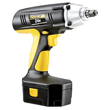 Tradespro 837212 24-volt 1/2-Inch Drive Cordless Impact Wrench Kit